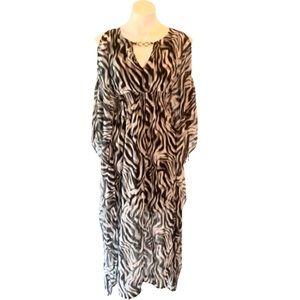 Jennifer Lopez Women's Zebra Print Maxi Dress
